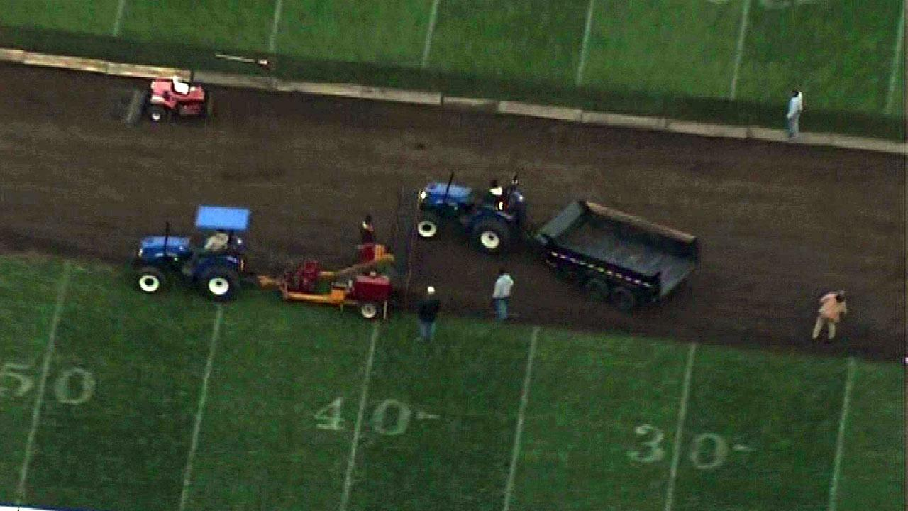 Soldier Field sod replaced