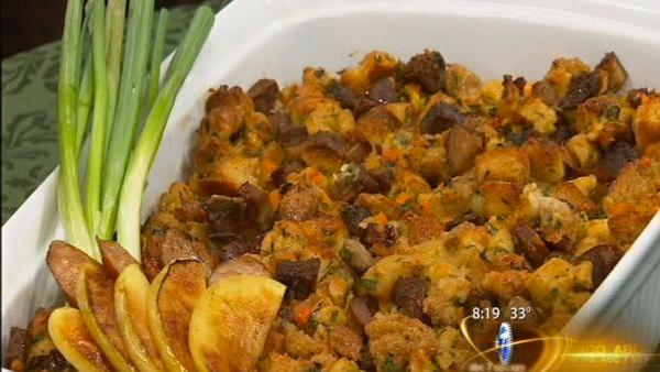 Let's Dish: Andouille Sweet Potato Stuffing
