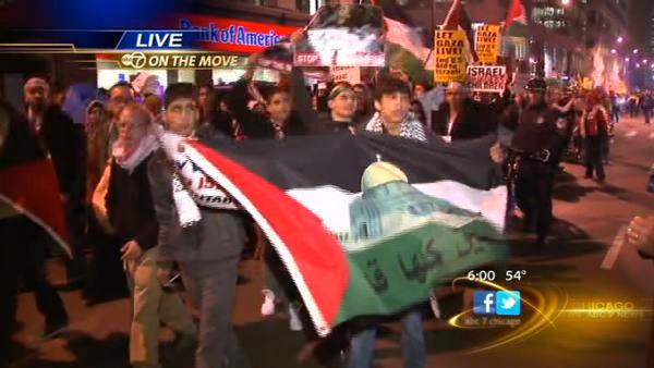 Pro-Palestinian rally held in the Loop