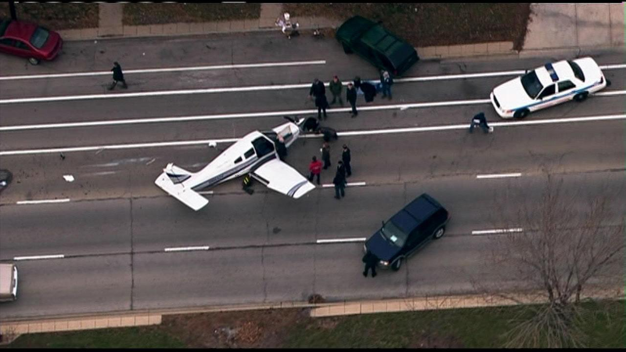 Some people may have thought it was real, but the small plane in the middle of King Drive at 31st Street was part of a TV shoot Friday morning, Nov. 30, 2012.
