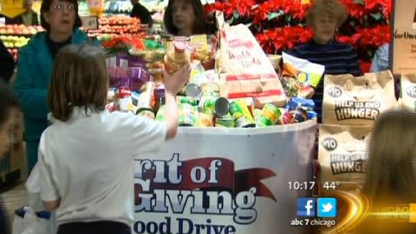 Hundreds take part in Spirit of Giving Food Drive with ABC7 and Dominick's