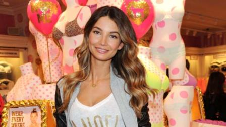 This photo shows model Lily Aldridge at the Victorias Secret Herald Square store in New York.