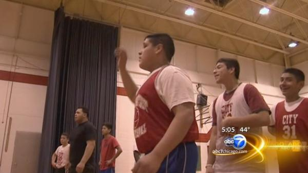 Hammond high school basketball team back at practice following van crash
