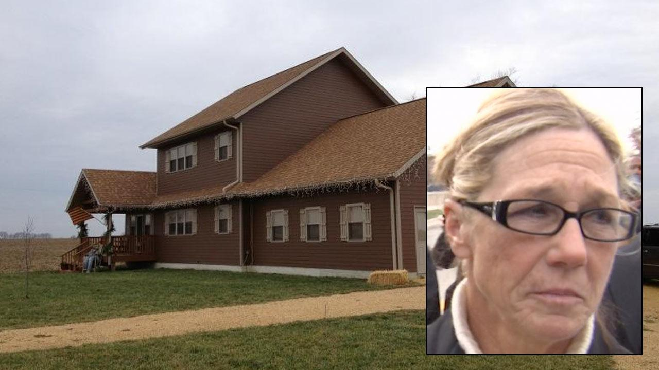 A rental property owned by former Dixon comptroller Crundwell is seen with photo of Crundwell inset.