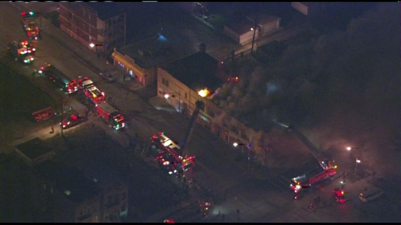Emergency crews were called to a fire at a convenience store in the North Lawndale neighborhood on Friday evening, Dec. 7, 2012.