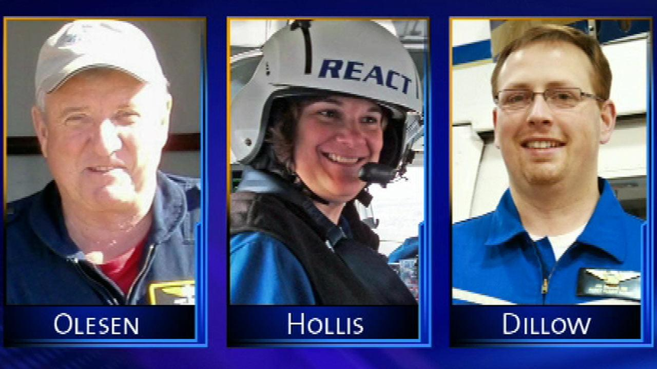 Pilot, nurses killed in chopper crash remembered