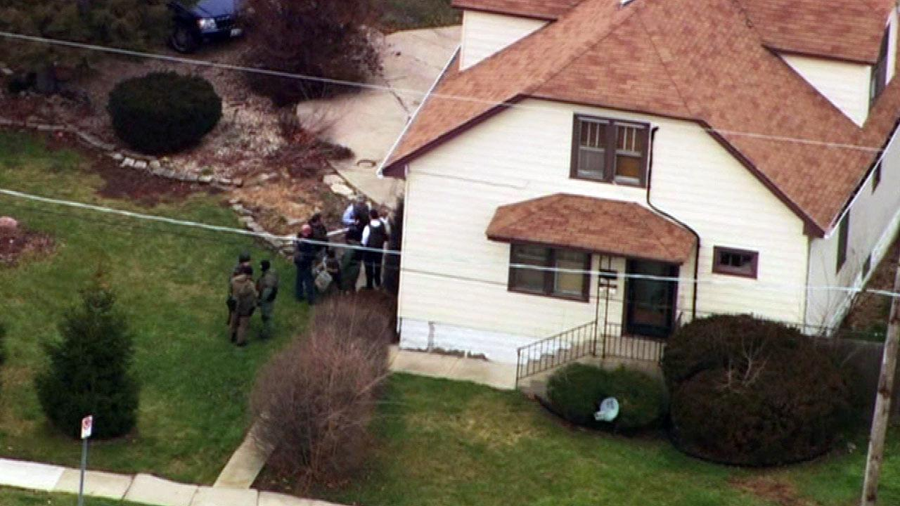SWAT teams converged on a home in Tinley Park.