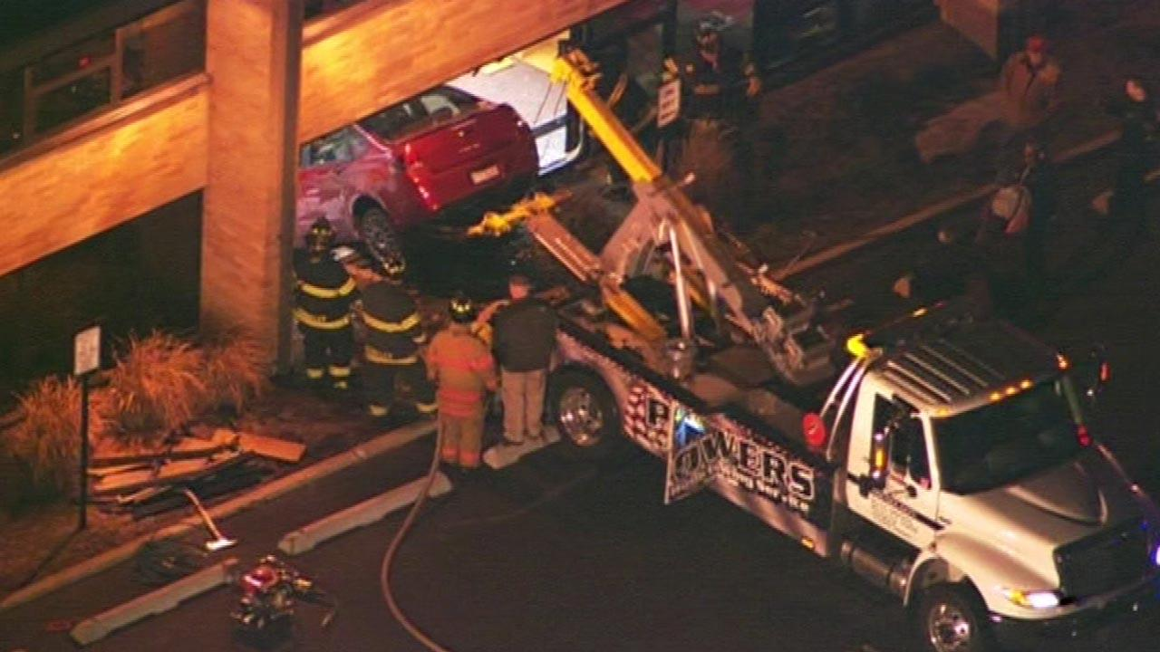 Car slams into Hillside school
