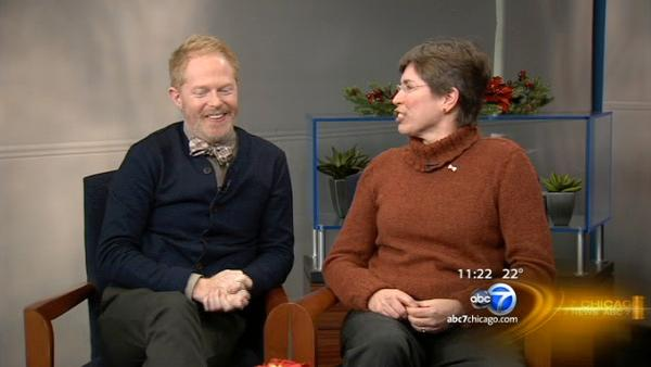 Jesse Tyler Ferguson, Lt. Governor Sheila Simon on ABC7 News at 11 a.m.
