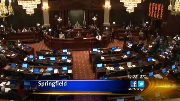 Illinois House adjourns without pension vote