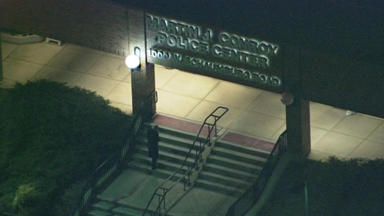 The Martin J. Conroy Police Center in Schaumburg is seen in this Chopper 7 photo.