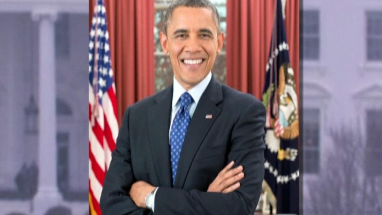The White House released President Barack Obamas new presidential portrait just three days before his second inauguration.