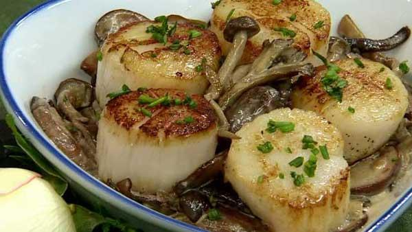 Let's Dish: Valentine Scallops and Mushroom Ragout
