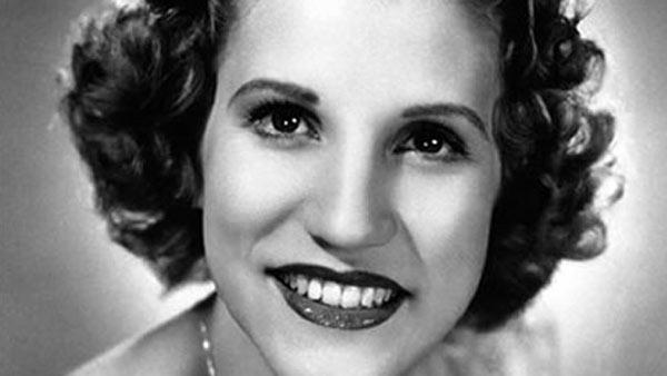 Singer Patty Andrews of the Andrews Sisters is seen, 1942.