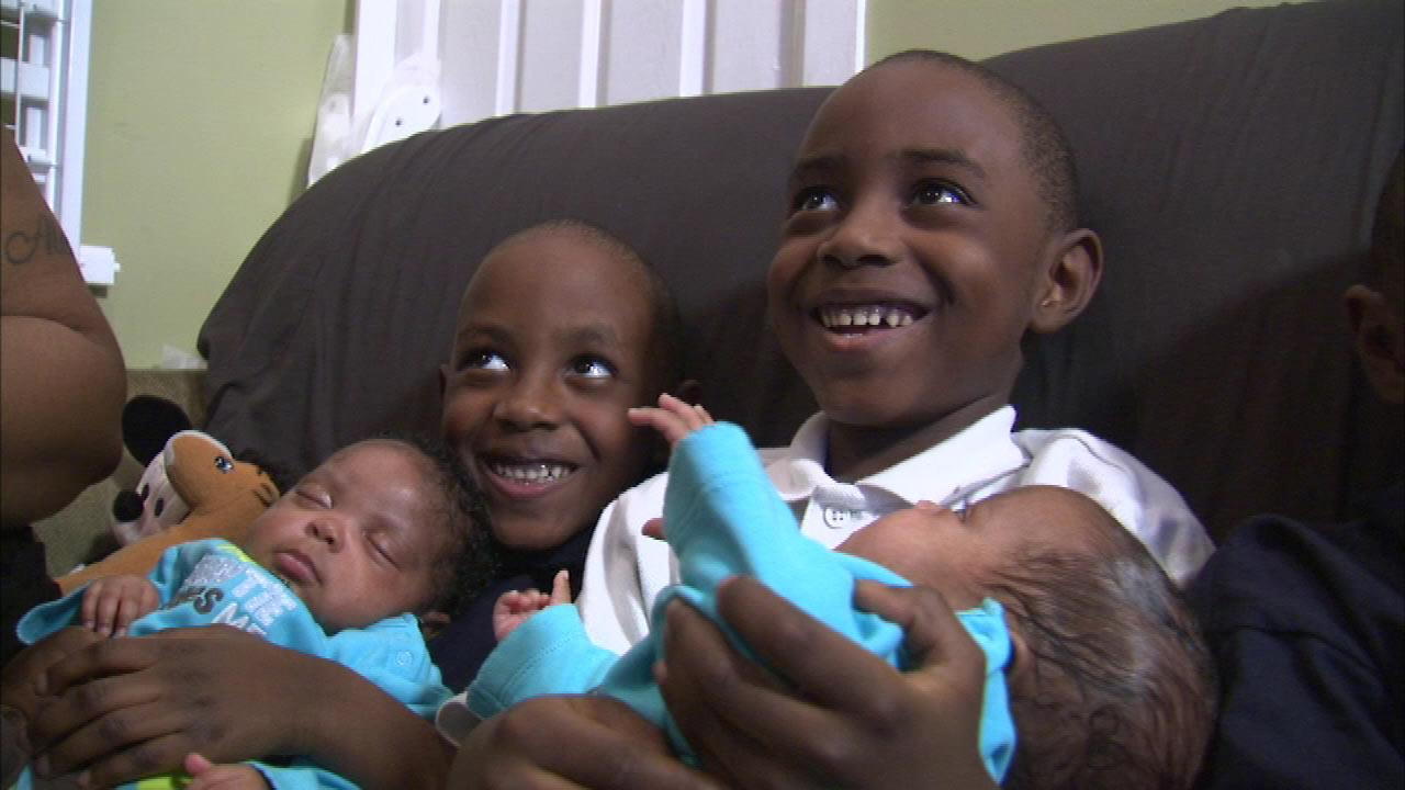 Premature quadruplets leave hospital, move home