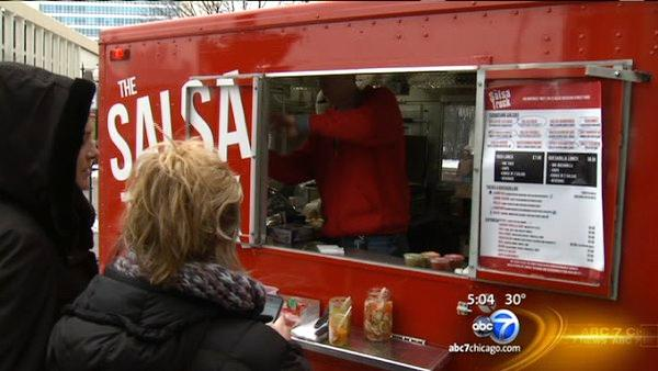 Food trucks cook on board for 1st time