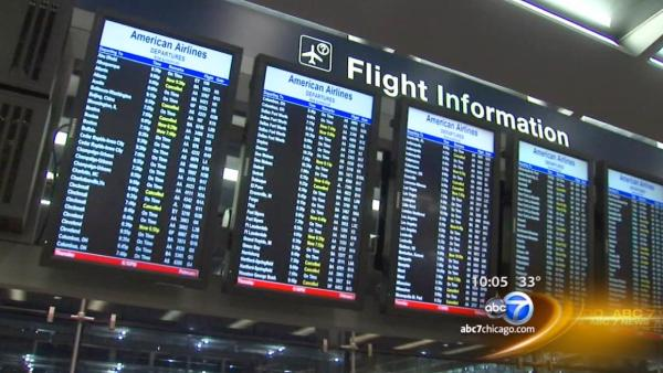 Hundreds of flights canceled because of storm