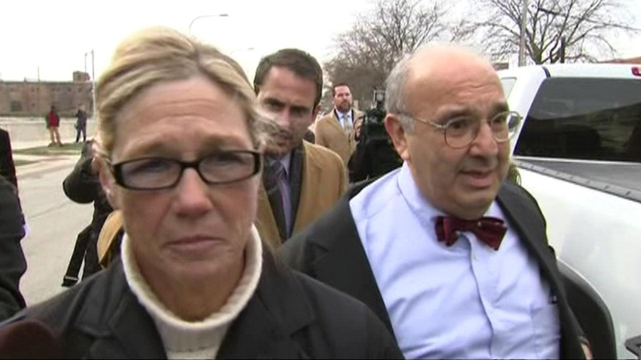 Former Dixon comptroller Rita Crundwell arrives at the federal courthouse in Rockford, Illinois, Feb. 14, 2013.