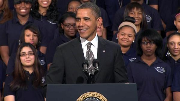 Full video of President Obama's speech at Hyde Park Academy