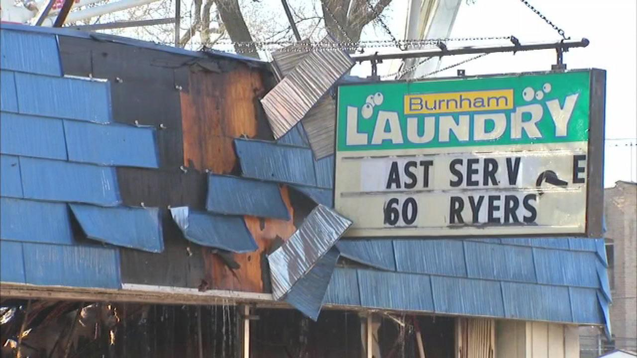 South Side laundromat gutted by fire