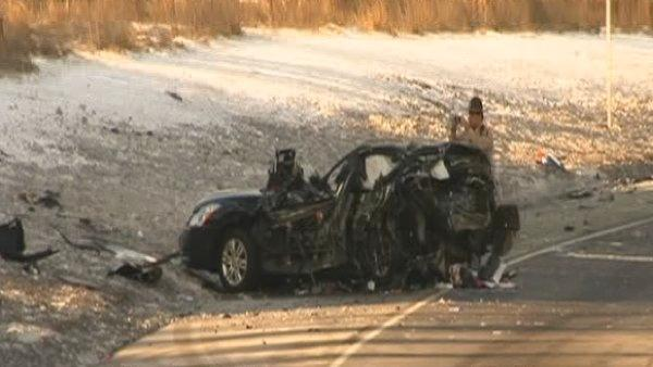 Eisenhower crash kills woman