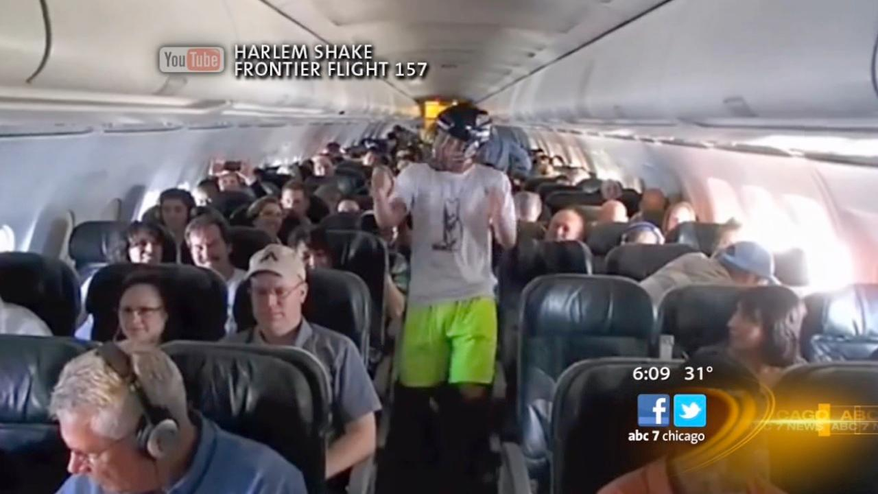 Harlem Shake raises safety concerns on planes, CTA trains