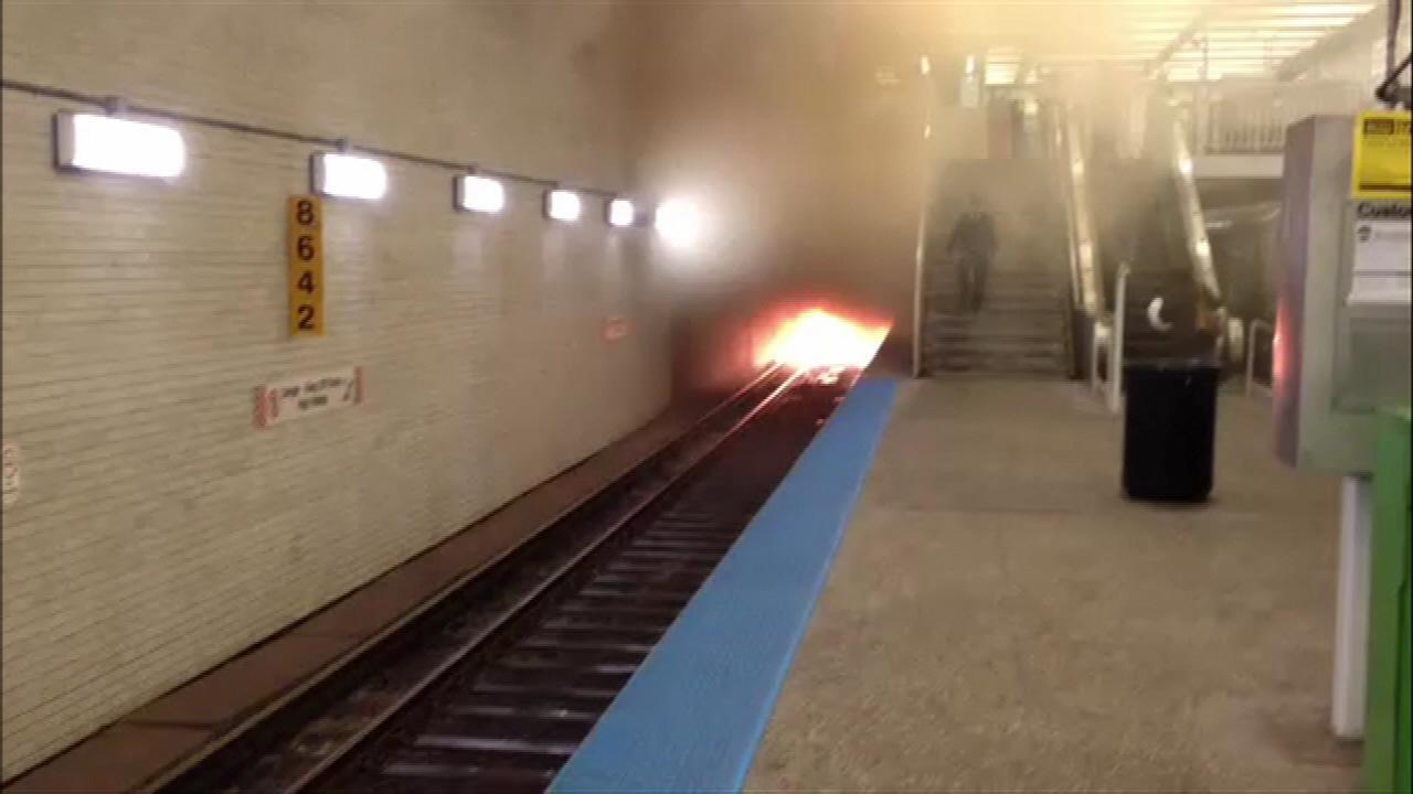 CTA Blue Line trains resume service after track fire