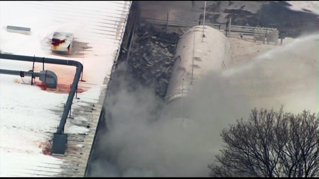 Firefighters were on the scene of a fire at an industrial park in northwest suburban Cary, Wednesday, March 6, 2013.Chopper 7