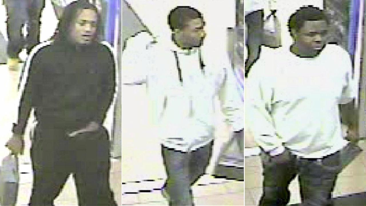 Surveillance cameras caught the suspects at a Crestwood Wal-Mart, where the suspects allegedly used the womans credit card.