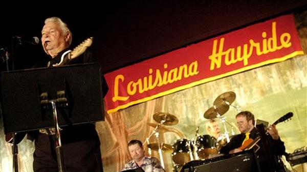 Country musician Claude King performs during a Louisiana Hayride show at the Municipal Auditorium in Shreveport, La.