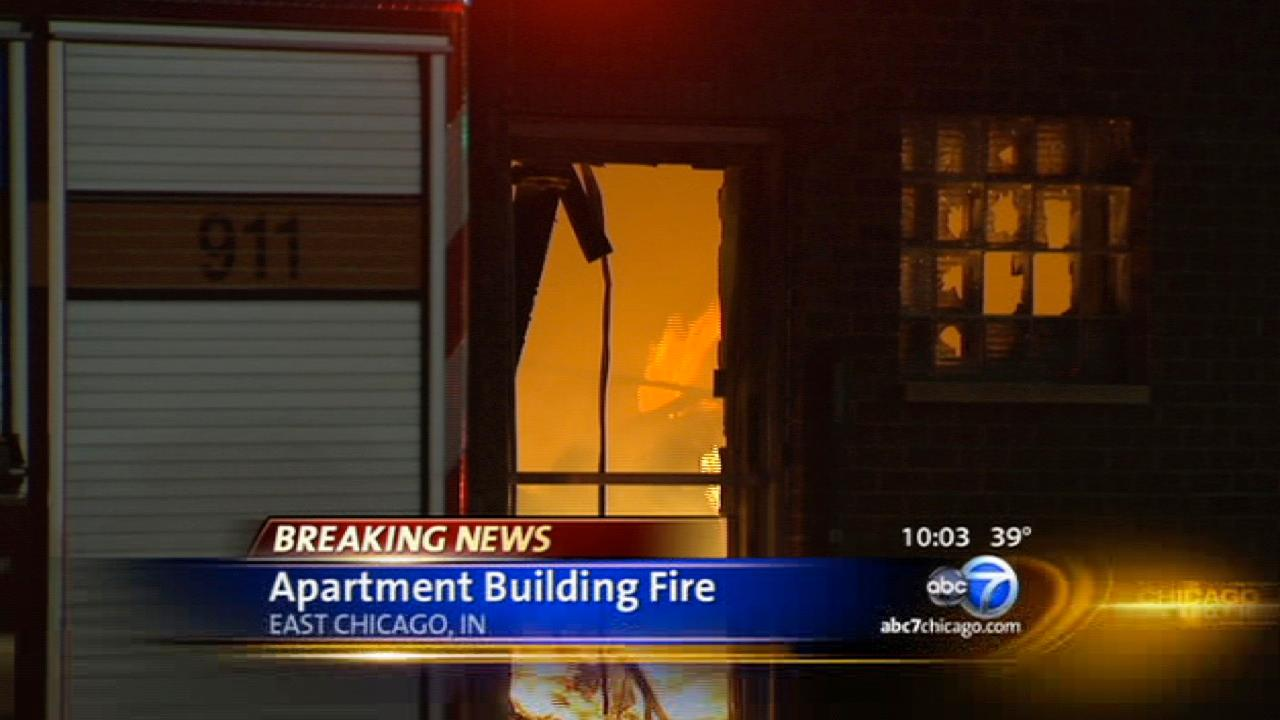 Fire breaks out in East Chicago apartment building