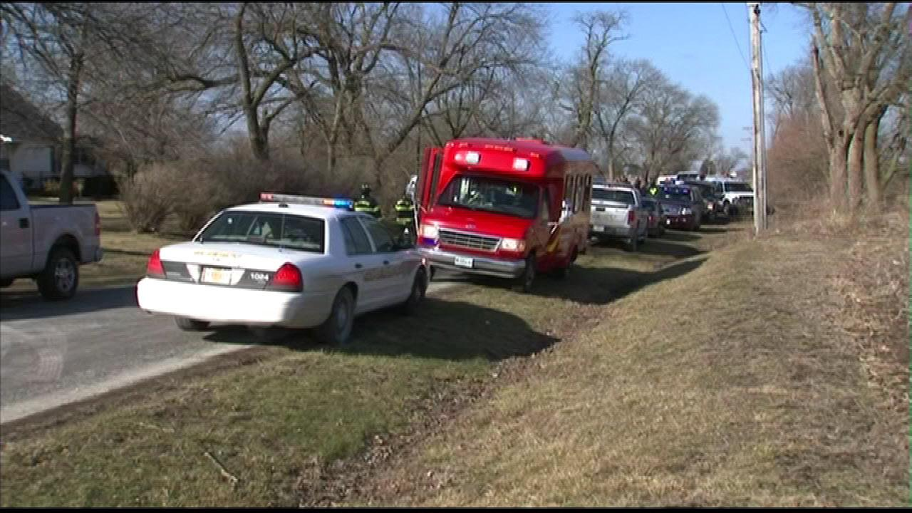 The bodies of four teenagers were found inside a car pulled from Forked Creek in Wilmington, Illinois, Tuesday, March 12, 2013.