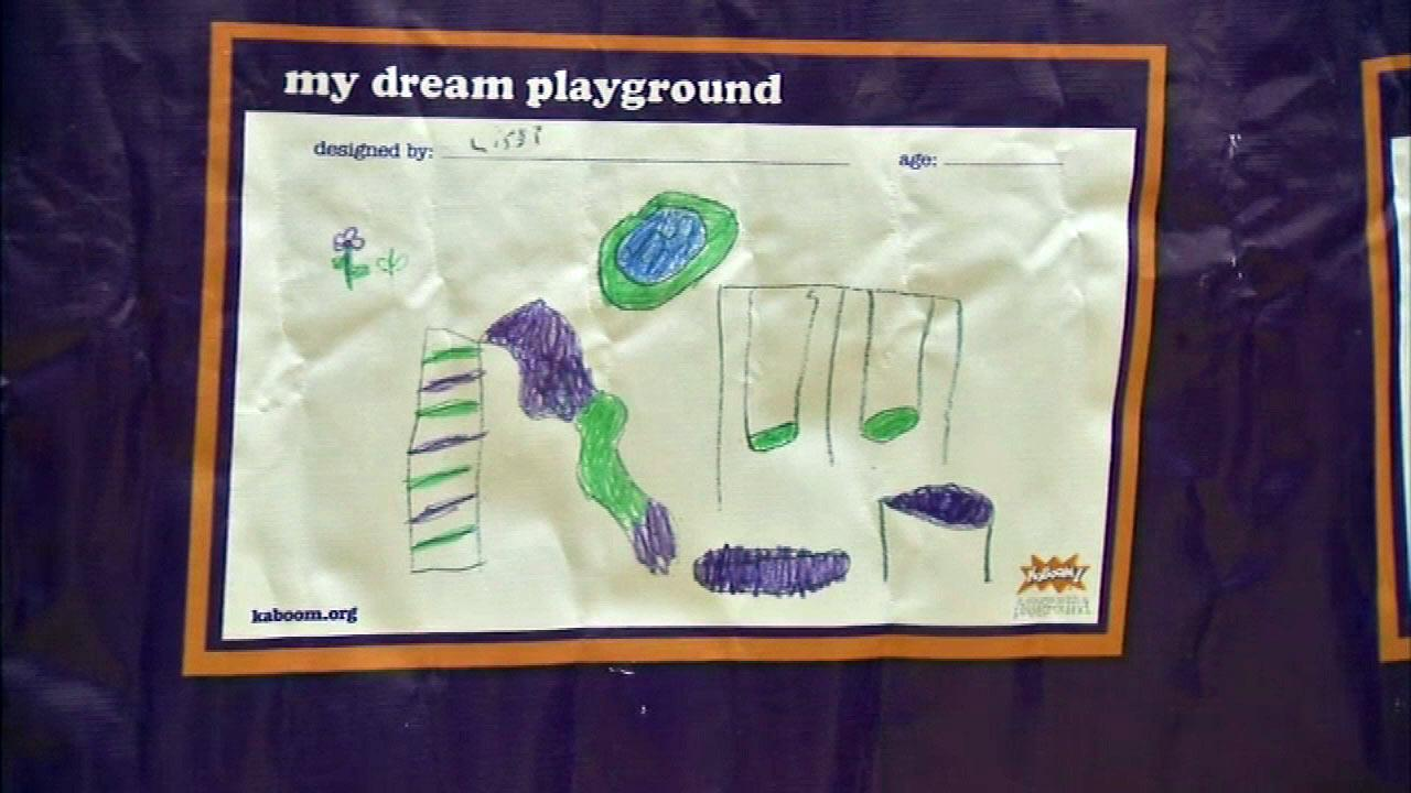 Kids help design KaBOOM! playground