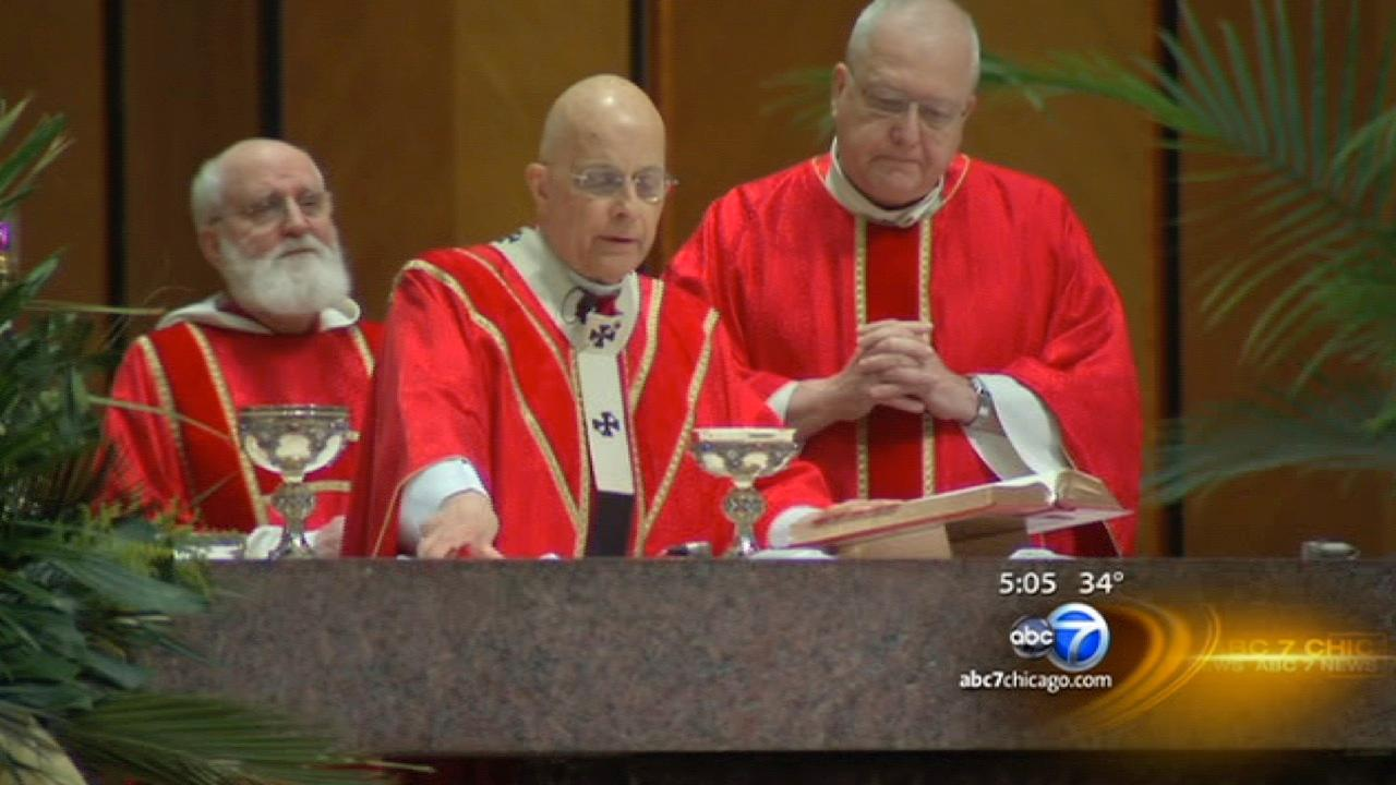Chicago Catholics celebrate Palm Sunday, pope