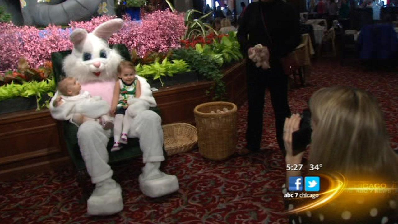 Easter Bunny hops into Macy's on State Street