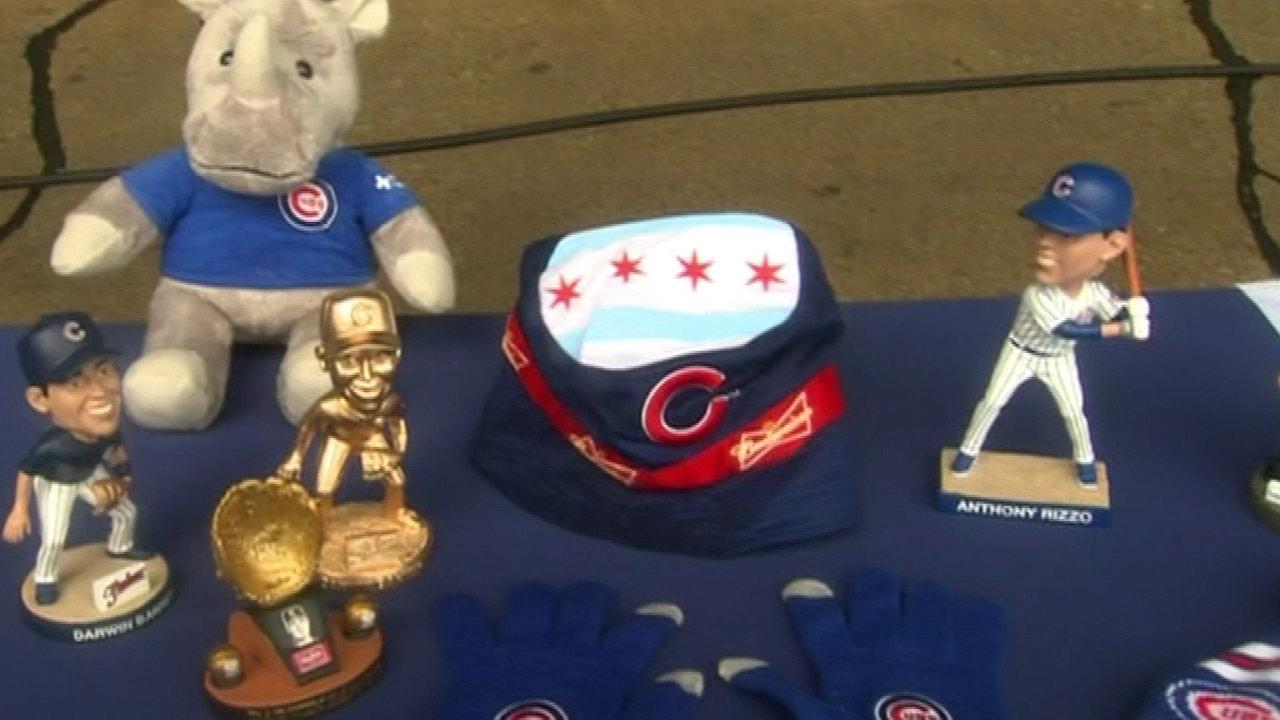<b>Jun 7 vs. Pittsburgh Pirates</b> Cubs Floppy Hat (Pictured at center). First 10,000 adults 21-and-older.  Presented by Budweiser <br />Also pictured (far right): <b>3:05 pm - Aug 31 vs. Philadelphia Phillies</b> Exclusive Limited-Edition Anthony Rizzo Bobblehead. First 10,000 fans