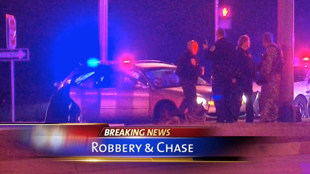 Robbery, police chase in northern suburbs leads to lockdown