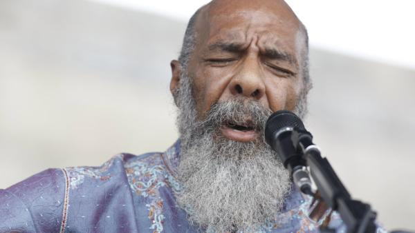 Richie Havens performs at the Newport Folk Festival at Fort Adams State Park in Newport, R.I.  in this AP file photo. (AP Photo/Joe Giblin)