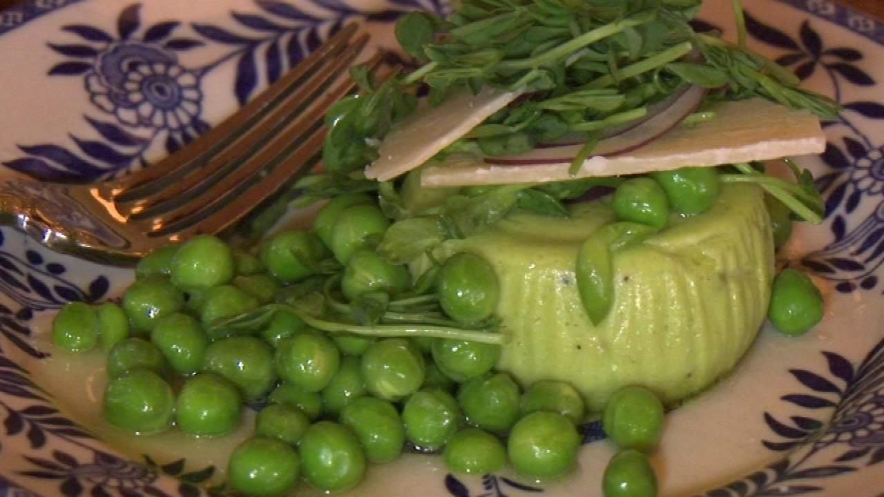 Publican welcoming spring with peas