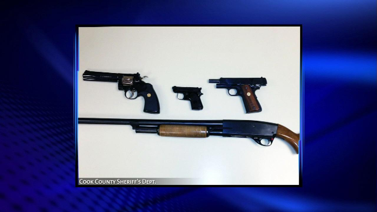 Authorities are also confiscating revoked Firearm Owners Identification cards.Cook County Sheriff