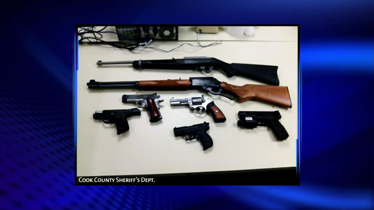The Cook County Sheriffs office seized dozens of guns as part of what it calls an aggressive  new effort to remove guns from those who possess them illegally. <span class=meta>(Cook County Sheriff)</span>