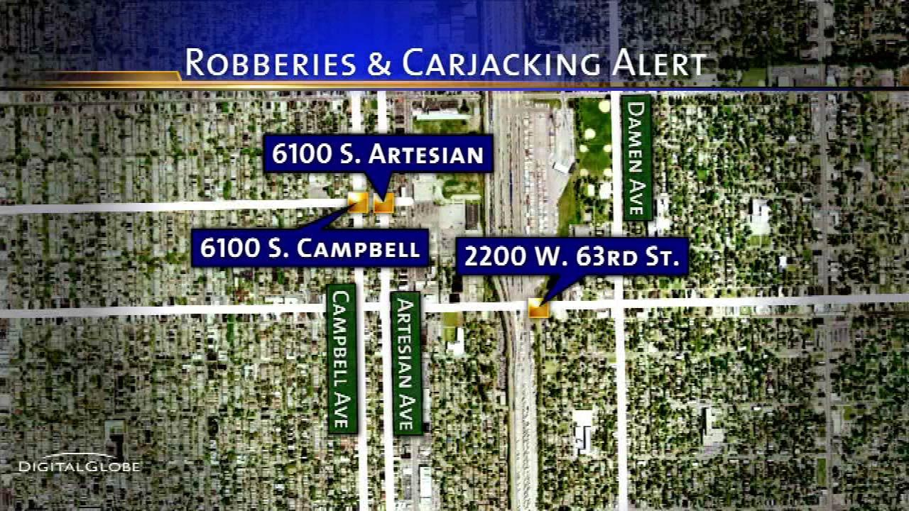 Residents in Chicagos Chicago Lawn neighborhood are told to be alert  following a string of robberies and carjackings.