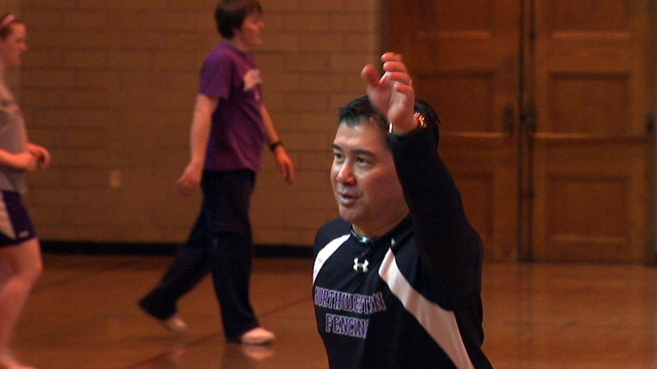 Ed Kaihatsu, associate head coach of the Northwestern womens fencing team.