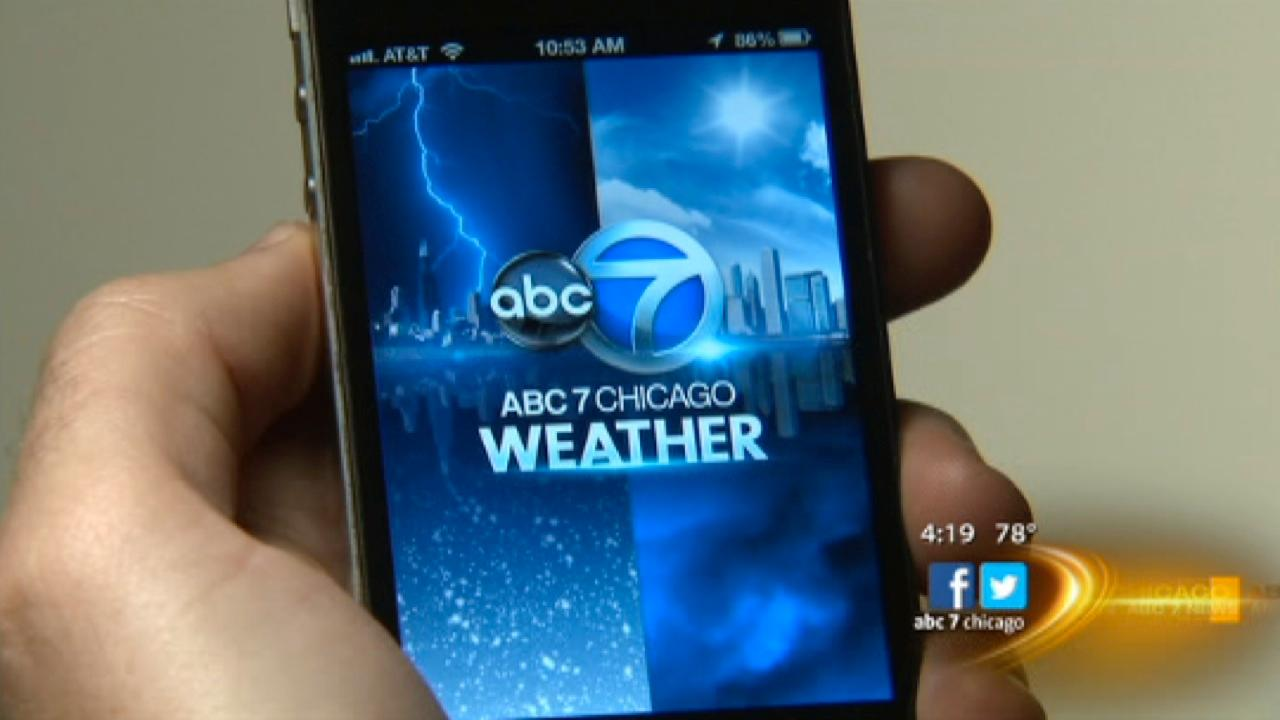 Download the ABC7 Chicago Weather App now!