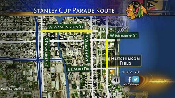 Blackhawks parade starts 10:30 am Friday, rally at 11 am in Grant Park