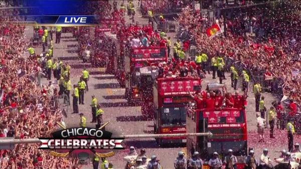 Blackhawks Parade: Part 3 - Entering Grant Park