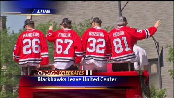 Blackhawks Parade: Part 1 - Leaving United Center