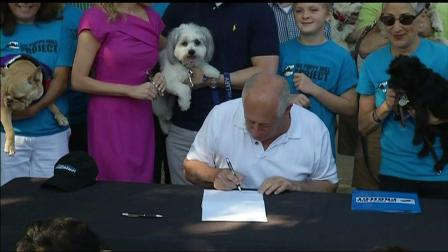 Surrounded by dog lovers and their four-legged friends, Gov. Pat Quinn signed legislation Saturday he said would help protect consumers who buy a dog or cat and then learn the animal is seriously ill.