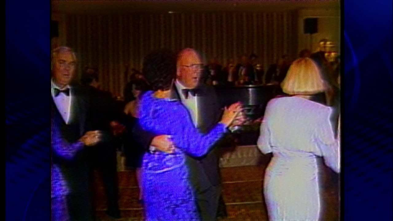 Hugh Hill dancing with wife Jackie