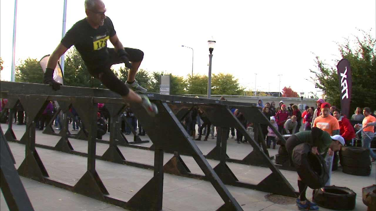 A crowd of weekend warriors were up early Sunday for the 8th annual Urbanathlon.